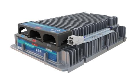 伊顿的专业转换器也称为电池均衡器,可与另一种转换器搭配使用,从BEV的600伏系统中获取电能,并将电压降至24伏。(照片:美国商业资讯)