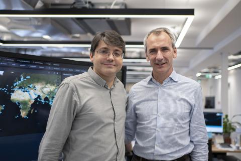 Fabio Kuhn, CEO, Vortexa and Jacques Gabillon, Chairman, Vortexa (Photo: Business Wire)