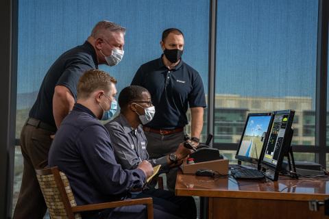 Savage is extending their investment in 3D locomotive operator training simulation to include customized switchyard scenarios to practice procedures and communications. This training ensures consistent training between employees including record keeping of the training. (Photo: Business Wire)