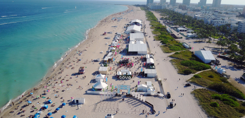 SOBEWFF® Goya Foods' Grand Tasting Village on the sands of Miami Beach. (Photo: Business Wire)