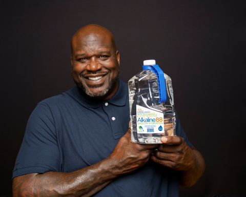 Shaquille O'Neal will be joining The Alkaline Water Company as an equity partner and member of the Company's Board of Advisors. He will also serve as a marquee brand ambassador for Alkaline88®. (Photo: Business Wire)
