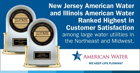 New Jersey American Water & Illinois American Water Ranked No. 1 in Customer Satisfaction in respective segments by J.D. Power (Photo: Business Wire)