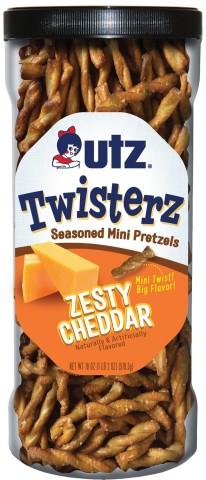 NEW Utz® Twisterz™ Seasoned Mini Pretzels, Zesty Cheddar Source: Utz Brands, Inc.