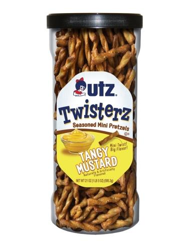 NEW Utz® Twisterz™ Seasoned Mini Pretzels, Tangy Mustard Source: Utz Brands, Inc.