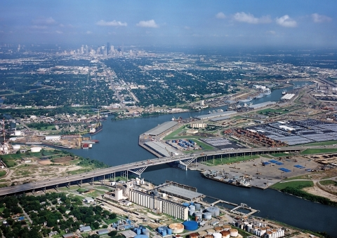 The Houston Ship Channel is a 52-mile federal waterway.  Last year, the  U.S. Army Corps of Engineers ranked it the No. 1 busiest channel in the nation. (Photo: Business Wire)