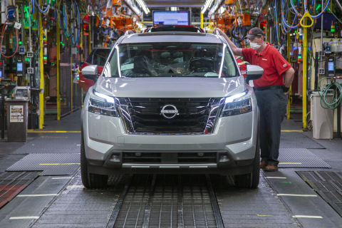 Production of the all-new 2022 Nissan Pathfinder is officially underway at the award-winning Nissan Smyrna Vehicle Assembly Plant in Tennessee. (Photo: Business Wire)