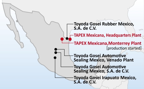 Production network in Mexico (Graphic: Business Wire)