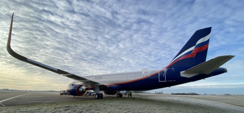 Aeroflot took delivery of the first of four A320neo aircraft on lease from CDB Aviation on May 14, 2021 at Airbus' delivery center in Toulouse, France. (Photo: Business Wire)