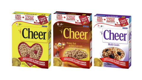 Cheer Cards now available on specially marked Yellow Box (570g), Honey-Nut (725g) and Multi-Grain Cheerios (585g) (Photo: Business Wire)