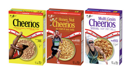 Team Canada Cheerios athlete packaging, on shelves in mid-June. (Photo: Business Wire)