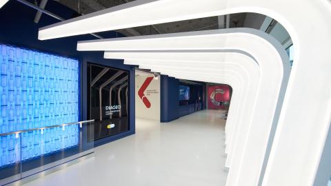 Diageo Collaboration Center reception area (Photo: Business Wire)