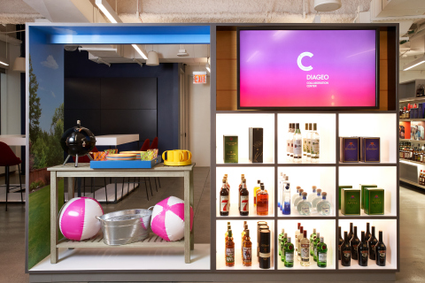 Diageo Collaboration Center sample display in off-premise area (Photo: Business Wire)