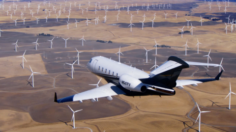 Flexjet LLC, a global leader in fractional private jet travel, today announced that it has achieved carbon-neutral flight operations through its partnership with 4AIR, the first and only rating system focused on comprehensive sustainability in private aviation. (Photo: Business Wire)