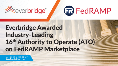 Everbridge Awarded Industry-Leading 16th Authority to Operate (ATO) on FedRAMP Marketplace Among Critical Event Management (CEM) Service Providers (Photo: Business Wire)