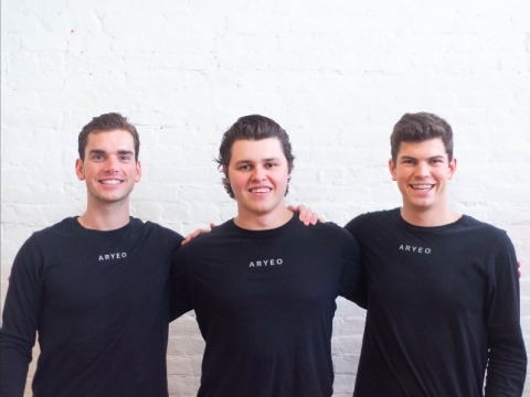 From left: Aryeo co-founders Brendan Quinlan, Matt Michalski and Branick Weix (Photo: Business Wire)