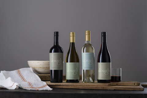 The core four Dough Wines are available for sale at local and national retailers and on restaurant wine lists across the country: 2019 Sauvignon Blanc (North Coast, CA), 2019 Chardonnay (North Coast, CA), 2019 Pinot Noir (Oregon), and 2019 Cabernet Sauvignon (North Coast, CA). (Photo: Business Wire)