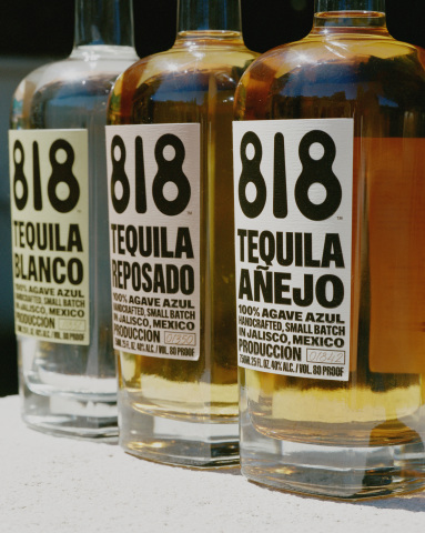 The 818 portfolio includes three variations: 818 Tequila Blanco; 818 Tequila Reposado; and 818 Tequila Añejo (Photo: Business Wire)