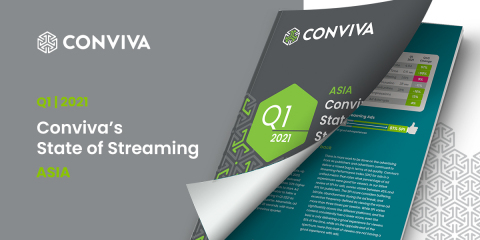 Q1 2021 Conviva's State of Streaming: Asia (Photo: Business Wire)