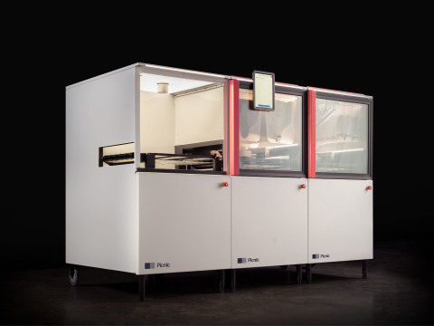 The Picnic Pizza System is an automated modular assembly line that you can customize to your requirements and personalized recipe. (Photo: Business Wire)