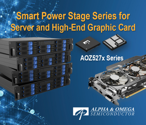 AOZ527x Series: Smart Power Stage Series for Server and High-End Graphic Card (Graphic: Business Wire)