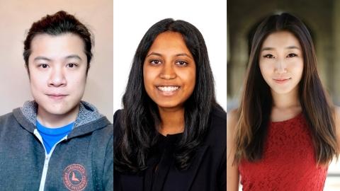 Viralspace.ai co-founders Hiro Tien, Apoorva Dornadula and Michelle Lu (Photo: Business Wire)