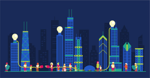 Powering Chicago Skyline (Graphic: Business Wire)