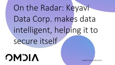 Leading analyst firm Omdia identifies cybersecurity trailblazer Keyavi Data as an innovator enabling a massive data security paradigm shift. (Graphic: Business Wire)