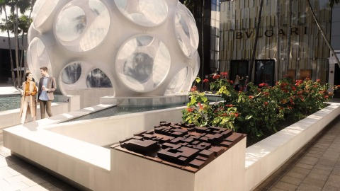RSM Design emphasized the role of public art in its work at the Miami Design District by adding a dynamic layer of architectural graphics to the area, and enhancing navigation aids and a visitor's sense of place.