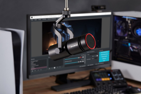 AVerMedia Live Streamer MIC 330, a dynamic XLR Microphone for broadcast, live streaming, podcast and more. (Photo: Business Wire)