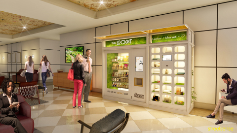 The Locket, where top-shelf quality and corner-store convenience live in perfect harmony. Inside, you'll find freshly stocked snacks, chic brands, and more than a few sophisticated sundries available both on-demand and for pre-order. Photo courtesy of Alchemista. (Photo: Business Wire)