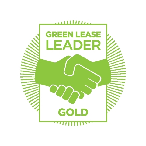 Columbia Property Trust has been recognized as a Gold Level 2021 Green Lease Leader by the Department of Energy and Institute of Market Transformation. (Graphic: Business Wire)