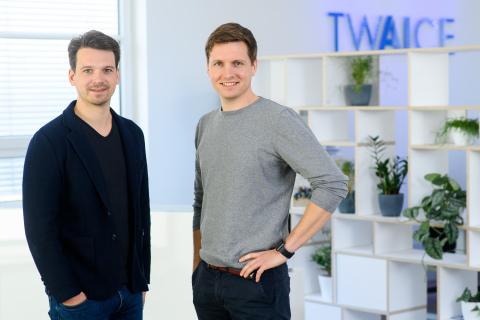Die TWAICE Co-CEOs Stephan Rohr und Michael Baumann (Photo: Business Wire)