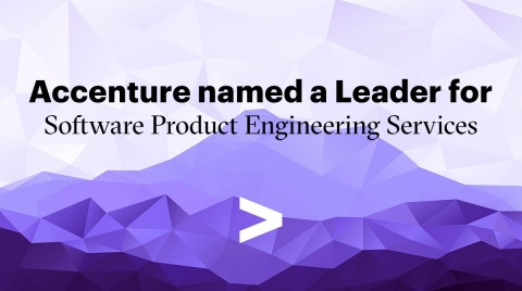 Accenture named a Leader for Software Product Engineering Services (Graphic: Business Wire)
