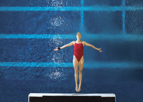 Olympian Laura Wilkinson practices platform diving for the Tokyo Olympics. Orthofix is proud to sponsor Laura, a 2000 Olympic Gold Medalist and Orthofix spine patient. For more information, visit www.Orthofix.com. (Photo: Business Wire)
