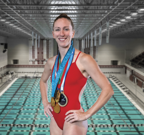 Olympian Laura Wilkinson is seen here with a few of her medals. Orthofix is proud to sponsor Laura, a 2000 Olympic Gold Medalist and Orthofix spine patient. For more information, visit www.Orthofix.com. (Photo: Business Wire)