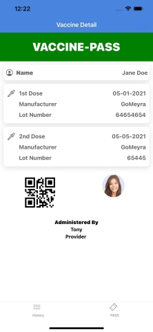GoMeyra Pass, for Contactless Proof of COVID-19 Vaccination or Test Results. New mobile app provides convenient way for travelers, event guests, employees and students to share health information on demand. (Graphic: Business Wire)