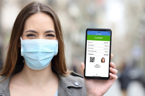 GoMeyra Pass, for Contactless Proof of COVID-19 Vaccination or Test Results. New mobile app provides convenient way for travelers, event guests, employees and students to share health information on demand. (Photo: Business Wire)