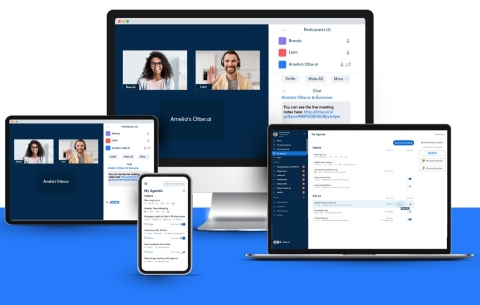 Your Otter.ai Assistant automatically joins your Zoom meetings to take notes and share them with meeting participants to increase meeting productivity, work-life balance, and enable participants to focus on the conversation rather than taking notes. (Graphic: Business Wire)