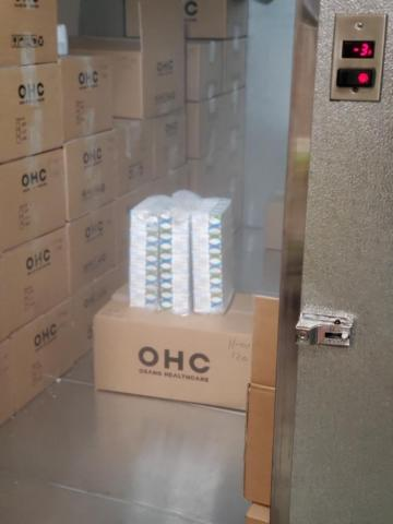 COVID-19 test kits in cold storage (Photo: Liberty Distribution)