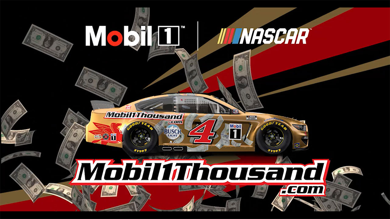 NASCAR driver Kevin Harvick will run a special golden paint scheme decked out with dollar bills on the No. 4 Ford Mustang at the Circuit of the Americas this Sunday, May 23.