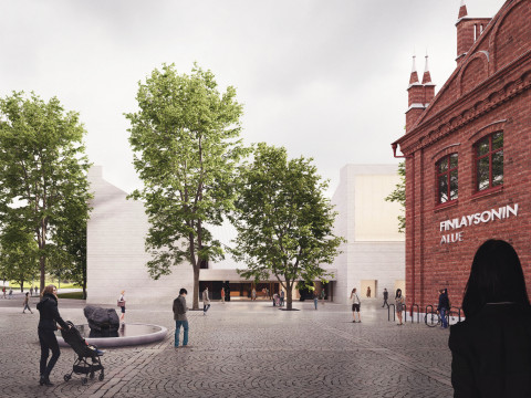 The new competition entry Lumen Valo has won the international architectural competition for the new Sara Hildén Art Museum building in Tampere, Finland. Photo by architect Janne Hovi.