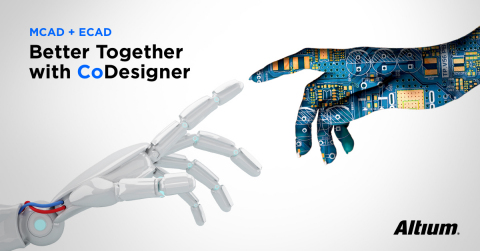 With Altium's CoDesigner capability, mechanical and PCB designers can now work together more effectively than ever before - eliminating many file transfers, data loss, and errors and gaining back hours of productivity. (Graphic: Altium LLC)