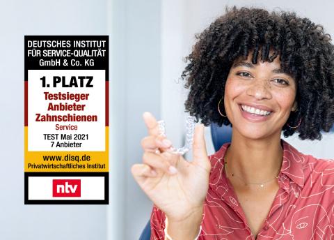 Ausgezeichnet: Die unsichtbaren Zahnschienen von PlusDental. Copyright: PlusDental (Photo: Business Wire)