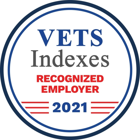 Cubic recognized as a VETS Indexes Recognized Employer.
