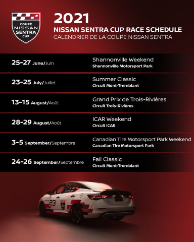 Nissan Sentra Cup set to begin on Canadian tracks at the end of June (Graphic: Business Wire)