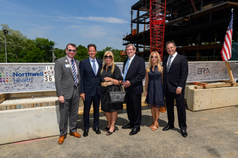 From left: North Shore University Hospital Executive Director Jon Sendach, with donors Jill and Michael Lamoretti, Northwell Health President and CEO Michael Dowling and donors Michael and Melissa Weinbaum. Credit Northwell Health