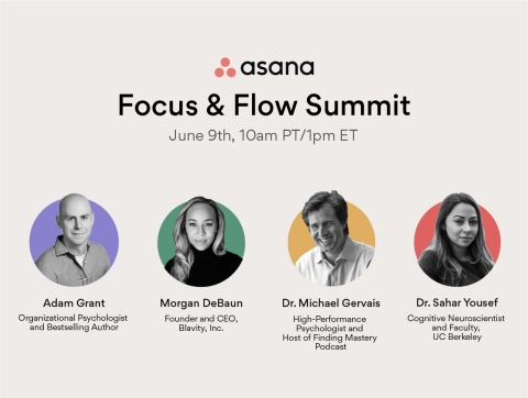 On June 9, the Focus & Flow Summit will bring together the foremost experts on positive habits, mindset, purpose and productivity. (Graphic: Business Wire)