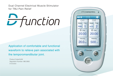 Electrical Muscle Stimulator for TMJ Pain Relief D function (Graphic: Business Wire)