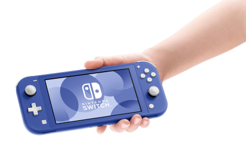The new blue Nintendo Switch Lite system launches today. By adding to the range of color options available for the system, the blue Nintendo Switch Lite system gives you more choices so you can express your personal gaming style wherever you choose to play. (Photo: Business Wire)