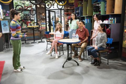 Ruth Righi, Ava Kolker, Julia Garcia, Paul-Mike'L Williams, Grace Lu and Cali Dicapo (Disney Channel/Bonnie Osborne*)
